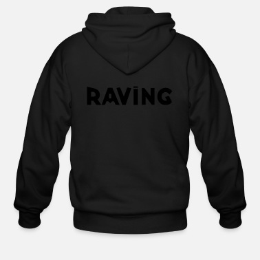 Deejay RAVING black and White - Men's Zip Hoodie
