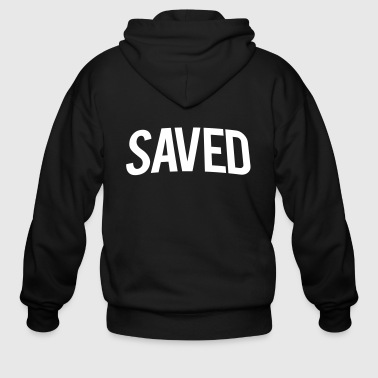 SAVED Bold Text Vector - Men's Zip Hoodie
