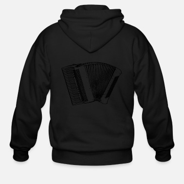 Clean W It Is Piano Accordion b w - Men's Zip Hoodie