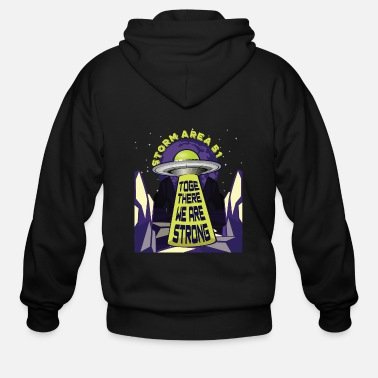 Area 51 Area 51 Raid - UFO - Together we are strong - Men's Zip Hoodie