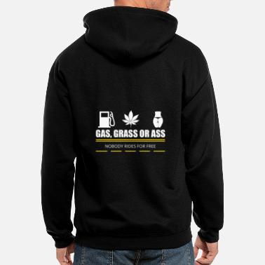 Ass Gas GAS GRASS OR ASS - Men's Zip Hoodie