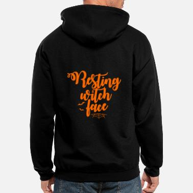 Resting witch face halloween tees - Men's Zip Hoodie