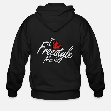 Freestyle I love Freestyle Music - Men's Zip Hoodie