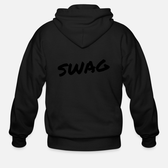Animal Hoodies & Sweatshirts - SWAG - Men's Zip Hoodie black