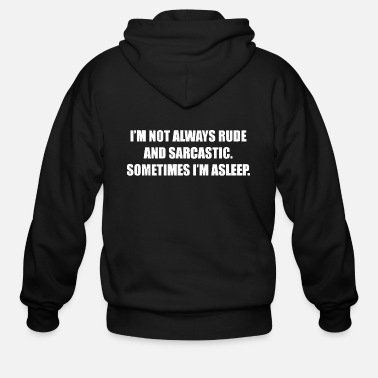 Rude RUDE AND SARCASTIC - Men's Zip Hoodie