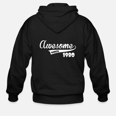 Awesome Since Awesome Since - Men's Zip Hoodie