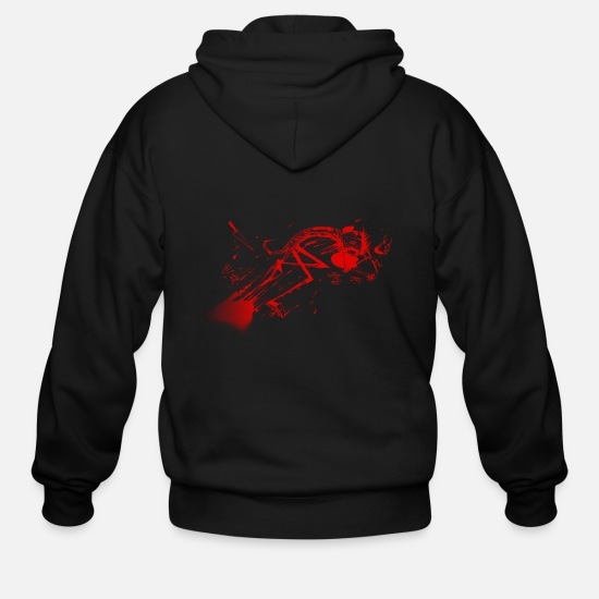 Murder Hoodies & Sweatshirts - dead jthm red - Men's Zip Hoodie black