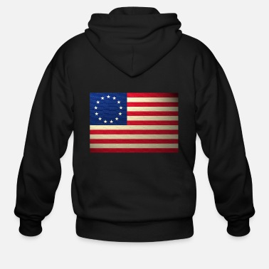 Revolutionary War Revolutionary War Flag - Men's Zip Hoodie