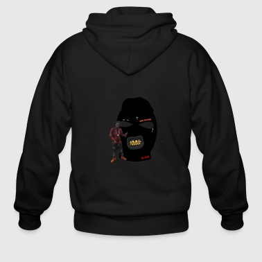 Trap Kodak Black's Famous Mask Clothing - Men's Zip Hoodie