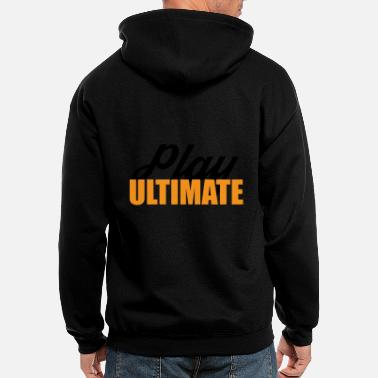 Play Ultimate Frisbee For Light Colors - Men's Zip Hoodie