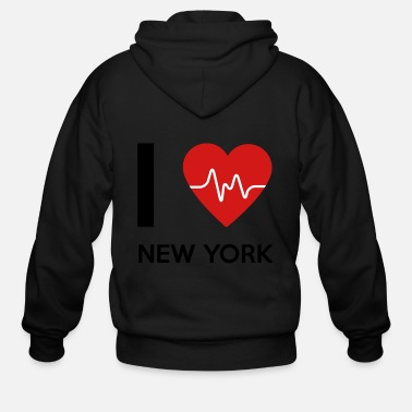 I Love New York I Love New York - Men's Zip Hoodie