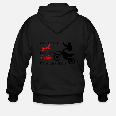 Motocross YES I RIDE DIRTBIKES - Men's Zip Hoodie