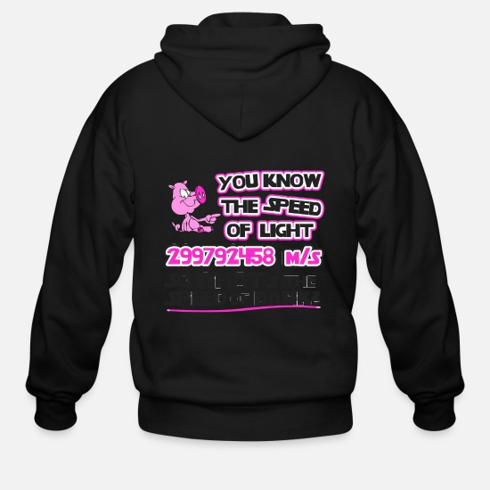Love Hoodies & Sweatshirts - Speed Of Light - The Speed Of Light - Men's Zip Hoodie black