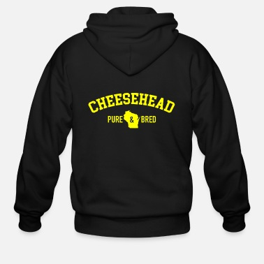 Pure-bred Cheesehead Pure Bred - Men's Zip Hoodie