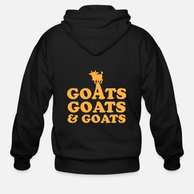 Goat GOATS GOATS and GOATS - Men's Zip Hoodie