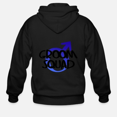 Wedding Party Groom Squad Wedding Party - Men's Zip Hoodie