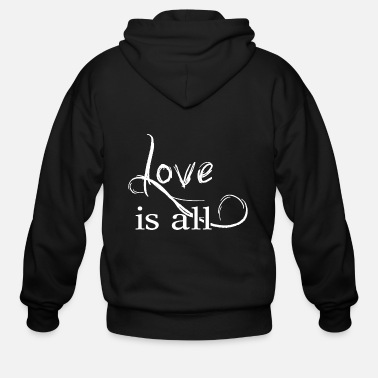 Affection Love is all - Help Affection - Men's Zip Hoodie