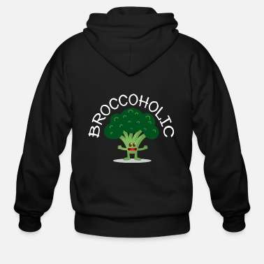 Broccoli Vegan Broccoli - Men's Zip Hoodie