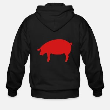 Swine Flu pig - pork - swine - Men's Zip Hoodie