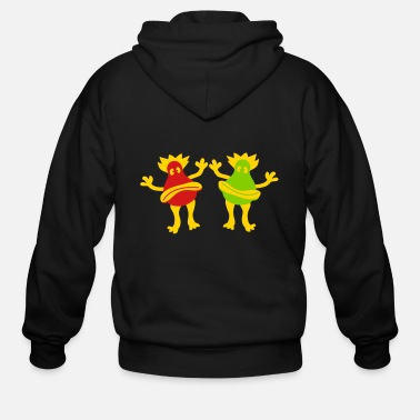 Miscellaneous Joyful happy miscellaneous 2 friends team couple s - Men's Zip Hoodie