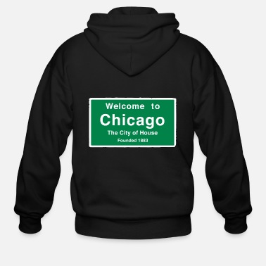 House Chicago The City of House - Men's Zip Hoodie