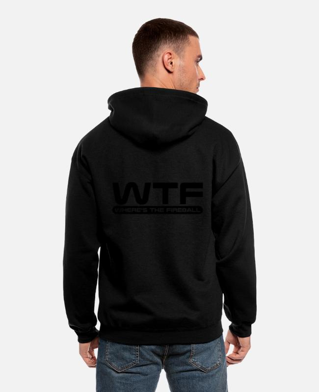 Ball Hoodies & Sweatshirts - WTF - Where's The Fireball - Men's Zip Hoodie black