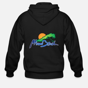 Miami Miami Beach - Men's Zip Hoodie