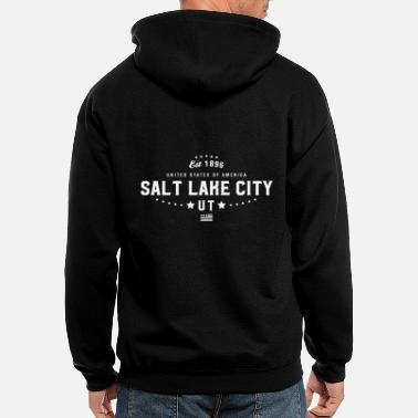 Mens Salt Lake City UT Utah State - Men's Zip Hoodie