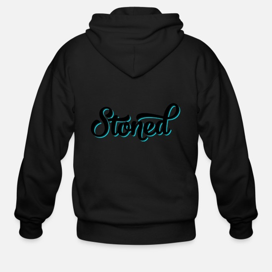 Stoner Hoodies & Sweatshirts - Stoned Swing Black - Men's Zip Hoodie black