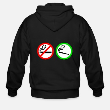 Smoking no smoking yes smoking - Men's Zip Hoodie