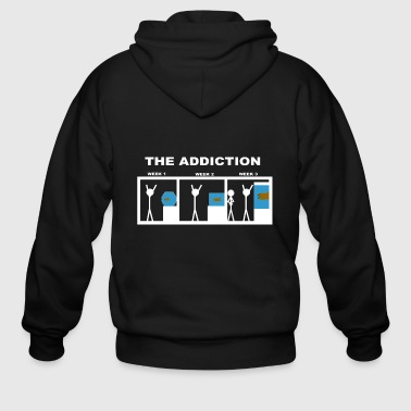 The addiction of aquariums - Men's Zip Hoodie