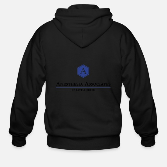 Aabc Hoodies & Sweatshirts - Anesthesiology Associates of Battle Creek - Men's Zip Hoodie black