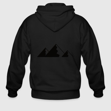 Mountain, Mountains - BLACK - Men's Zip Hoodie
