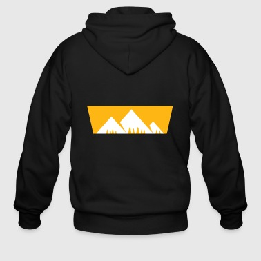 Carinthia Mountains with firs Bergshirt - Men's Zip Hoodie