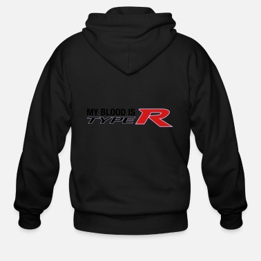 Jdm My Blood is Type R Modern - Men's Zip Hoodie