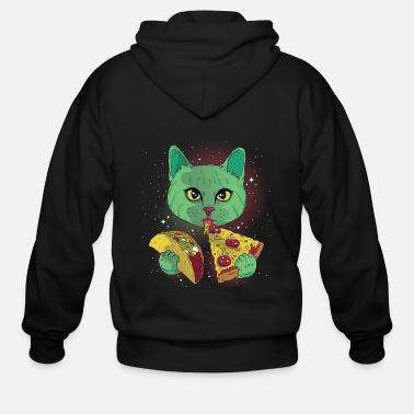 Pizza Cosmic cat - Men's Zip Hoodie