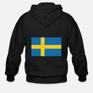 Sweden Flag of Sweden, flag Sweden, Sweden flag - Men's Zip Hoodie