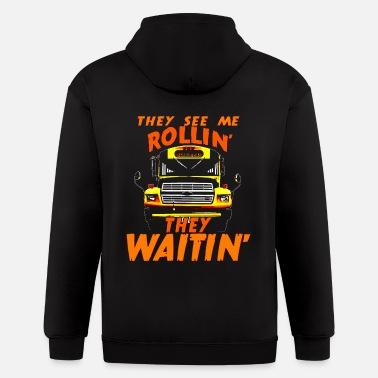 Hooded Sweatshirt Long Sleeve Hoodie Pullover Mom School Bus Driver for Male