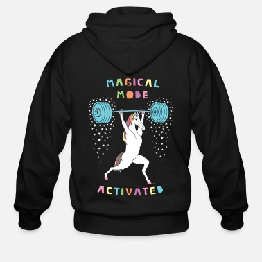 Magical Mode Unicorn - Men's Zip Hoodie