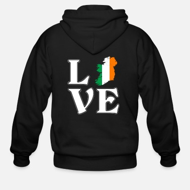 I Love Ireland I love Ireland - Irish - traveling - Men's Zip Hoodie