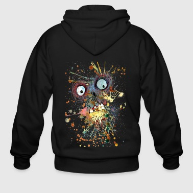 shocked zombie - Men's Zip Hoodie