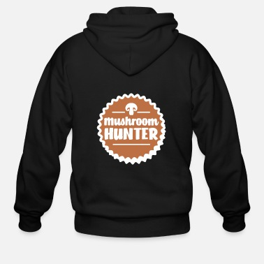Forest Mushroom picker shirt & mushroom hunter gift - Men's Zip Hoodie