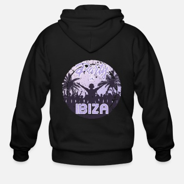 Hardstyle Party in Ibiza - Men's Zip Hoodie