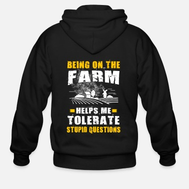 Farming Being on the Farm T Shirts - Men's Zip Hoodie