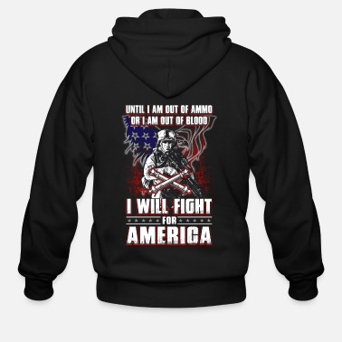 Out Until I Am Out Of Ammo Artillery Man - Men's Zip Hoodie