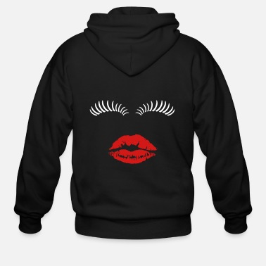 Eye Lashes Eye lashes and kiss. - Men's Zip Hoodie