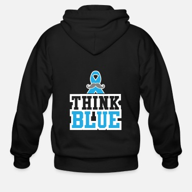 Breast Cancer Awareness Think Blue Prostate Cancer Cancer Tee - Men's Zip Hoodie