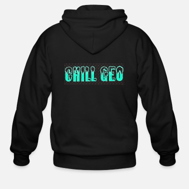Chill. Geo Merchandise - Men's Zip Hoodie