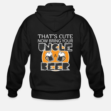 Beer Uncle Beer - Men's Zip Hoodie