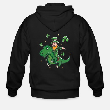 Ireland Funny St Patricks day Leprechaun graphic - - Men's Zip Hoodie